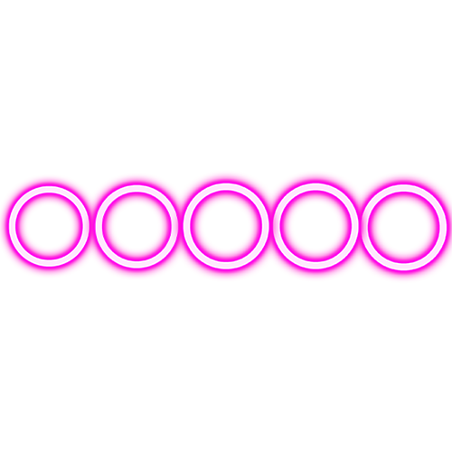 Purple circles square glow